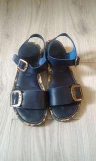 葡萄牙製造 | 簡約真皮涼鞋 | 近全新 | 百貨專櫃購入