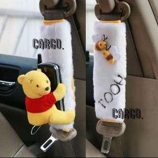 全新現貨 維尼 小熊維尼 Winnie the Pooh 安全帶 安全帶套 一對裝