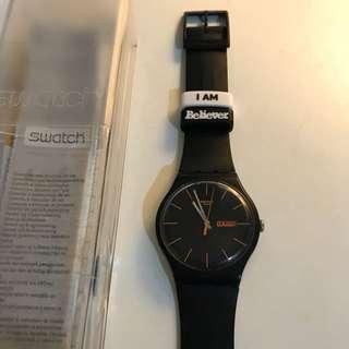 Swatch Matt black watch 啞黑色大錶面手錶