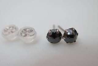Black diamond 黑鑽石耳環