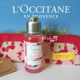 BN L'occitane Pivoine Flora Shower Gel with Pouch