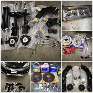 OEM BRAKE; ROTOR; ENGINE MOUNTING/ LOWER ARM; OIL LEAK REPAIR; COOLING COIL; ENGINE SERVICING