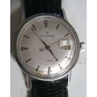 古董瑞士綺年華 (Eterna) 上鍊日曆男裝錶
