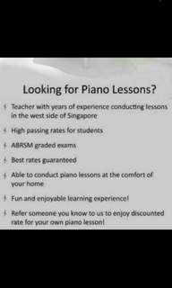 Quality Piano Lessons for you and your kids