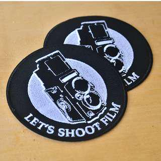 🚚 Let's Shoot Film embroidery patch