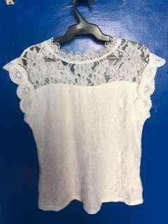 sleeveless lace blouse