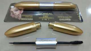 MASCARA & EYELINER LOREAL PARIS 2IN1