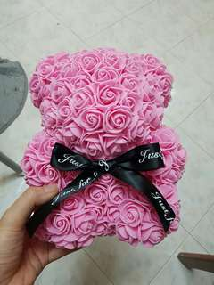 Bear - Pink Roses
