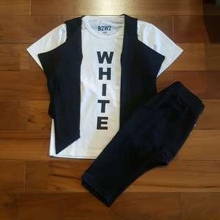 Boyset casual hitam (4T)