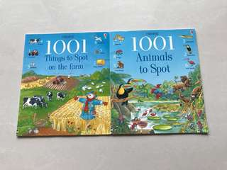 Usborne : 1001 Things to Spot on the Farm / 1001 Animals to Spot