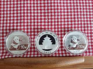 2014 01oz sliver panda coin