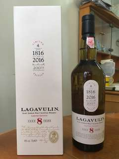 Lagavulin 200 anniversary 8 years 200 週年特別版 Isley single malt whisky