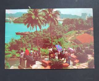 Sinagpore 70's postcard Acient Artillery at Sentosa used 1980