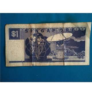 Singapore currency. ($1)