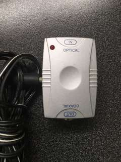 Digital sound converter adapter Coaxial (OUT) to Optical (IN)