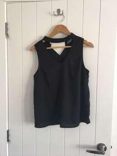 High neck sleeveless tank