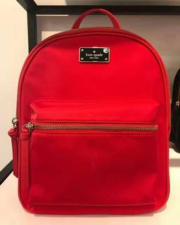 Original kate spade bradley backpack small red