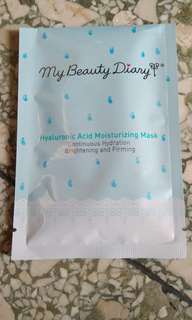 [REPRICED] My Beauty Diary (Hyaluronic Acid Moisturizing Mask)