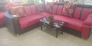 Sofa L bisa pilih warna dan bahan promo tanpa DP