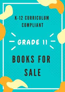 K-12 curriculum compliant grade 11 textbooks