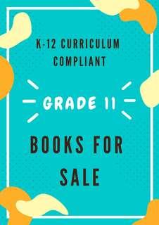 K-12 curriculum compliant grade 11 textbooks
