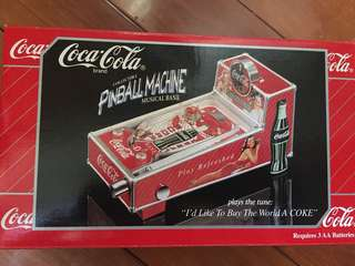 可口可樂收藏品 Coca Cola Pinball Machine Musical Bank