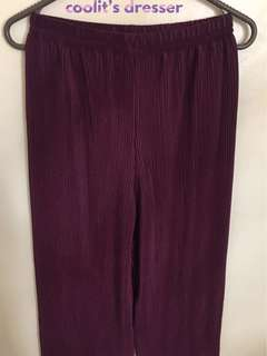 NEW! Flowy Square Pants (Maroon)