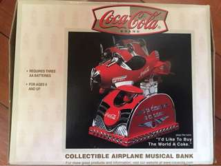 可口可樂收藏品 Coca Cola Collectible Airplane Musical Bank
