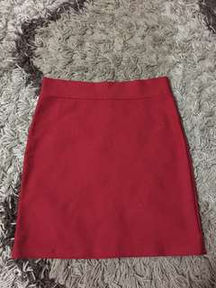 Fitted Skirt Red