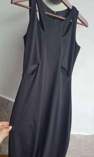 Black maxi dress with cutout details
