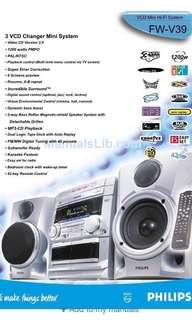 Philips VCD Mini Hi-Fi System (FW-V39) - BRAND NEW IN BOX