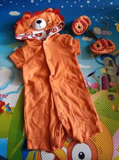 mothercare lion romper set
