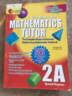 Sec 2A Mathematics Tutor