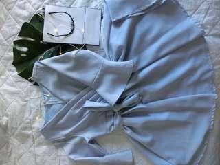 Dress preloved 7 light blue