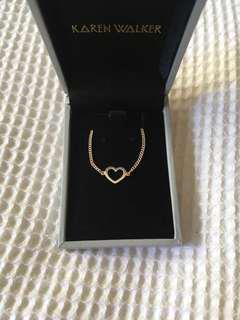 Karen Walker heart necklace