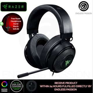 Razer Kraken 7.1 V2 Oval + Razer Headphone Stand