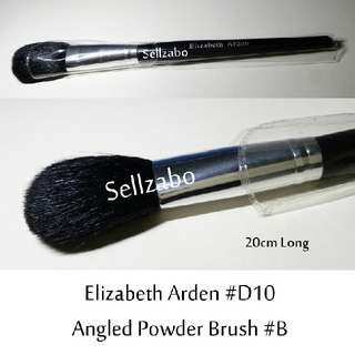 #D10 : Brush : Elizabeth Arden : Brushes : Angled : Powder : Big : Black Colour : Applicators : Cheeks : Blush : Blushers : Highlights : Bronzers : Face : Facial : Makeup : Cosmetics : Beauty : Tools : Sellzabo