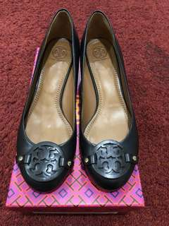 Tory Burch Black Wedge Pump