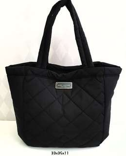 MJ Quilted Tote Black