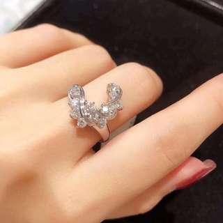 18k白金鑽石介指