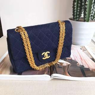 Chanel Vintage denim cf