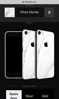 IPhone 8 Dbrand white marble skin