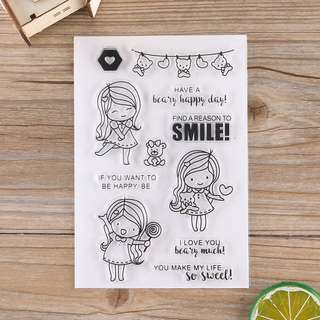 Smiling Girl Clear Stamp