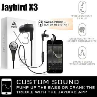 Jaybird X3 Wireless Bluetooth Headphones with Local Warranty