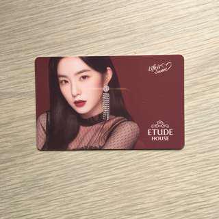 (LE) Etude House x Red Velvet Photocard