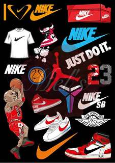 Nike Luggage Sticker