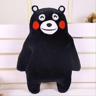 BTS Suga Kumamon Black Bear Plush Doll / Standing Doll
