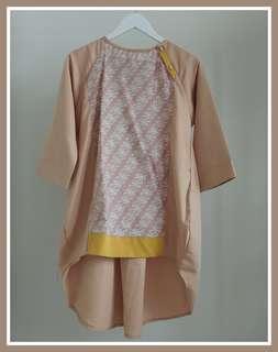 Blouse Cotton Balotelly aplikasi cotton batik