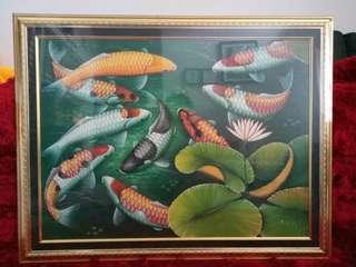 Frame bingkai + foto ikan koi