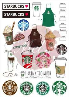Starbucks Luggage Sticker